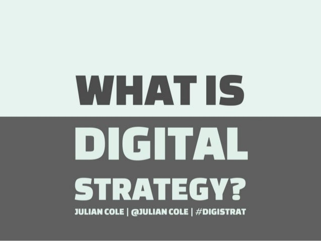 What is Digital Strategy?