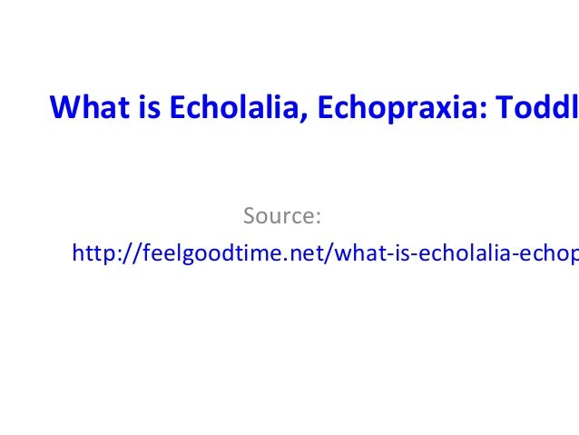 What is Echolalia, Echopraxia: Toddl Source: http://feelgoodtime.net/what-is-echolalia-echop