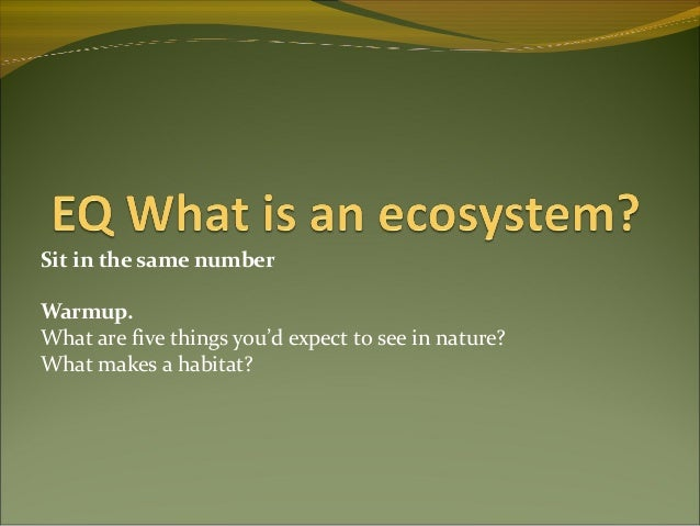 What is ecology 090901135227
