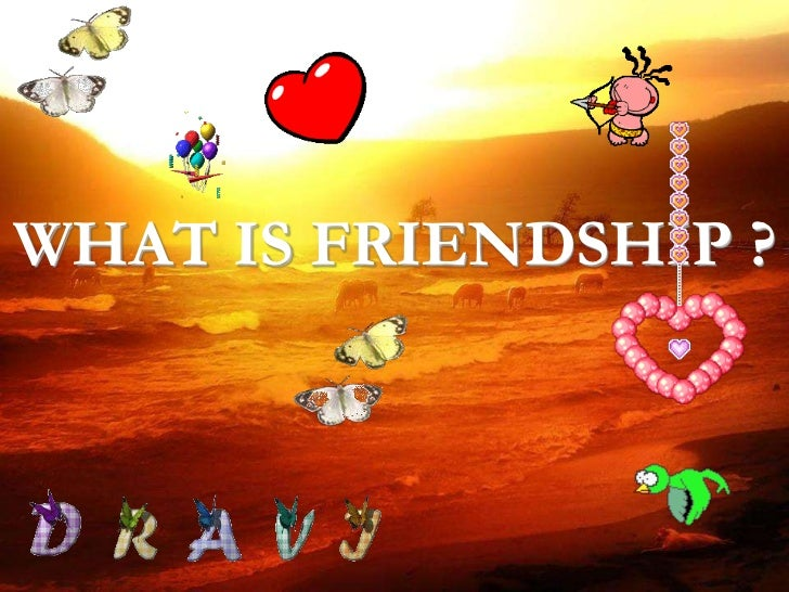WHAT IS FRIENDSHIP ?<br />