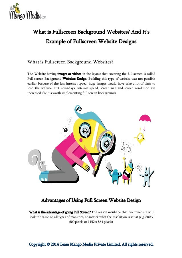 What is Fullscreen Background Websites? And It's Example of Fullscreen Website Designs