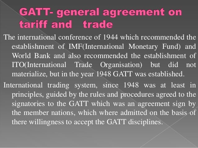 The international conference of 1944 which recommended the   establishment of IMF(International Monetary Fund) and   World...