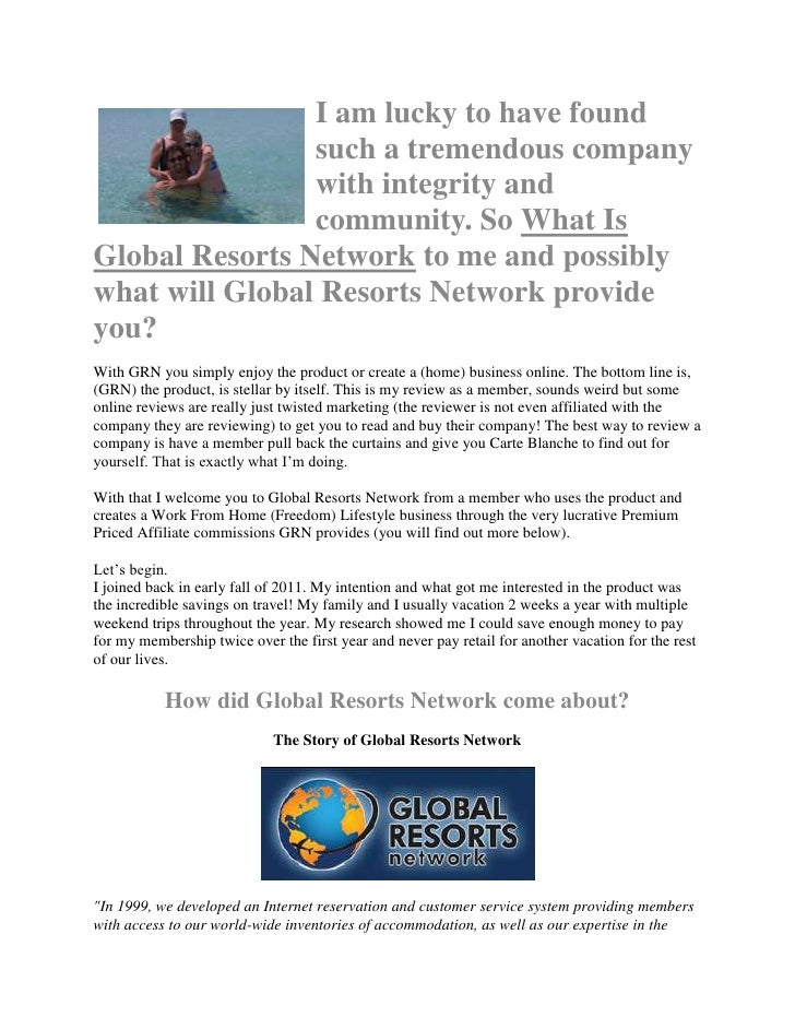 What is gloabal Resorts Network