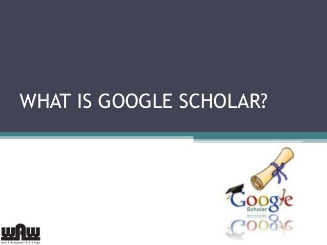 What is Google scholar?