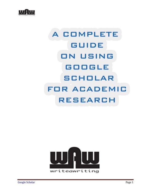 Google Scholar Page 1
