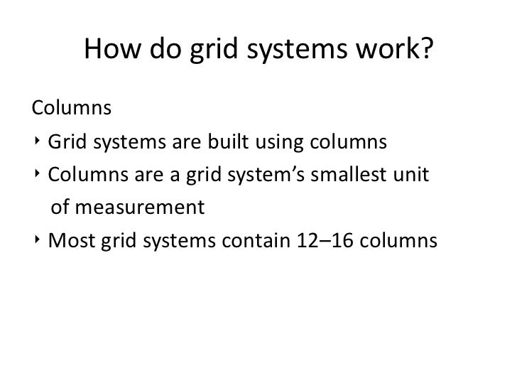 What Is Grid System