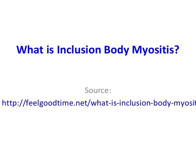 What is inclusionbody myositis