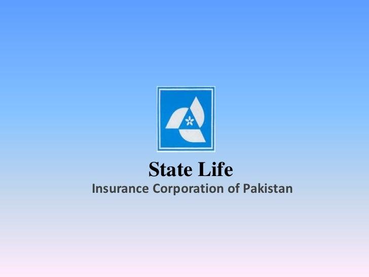 State LifeInsurance Corporation of Pakistan<br />