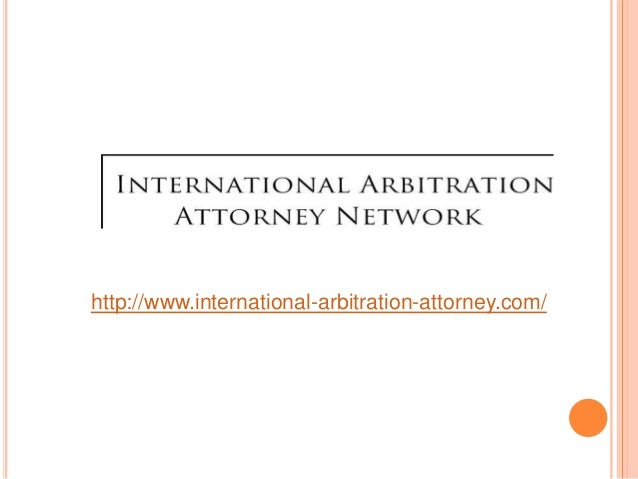What is international arbitration