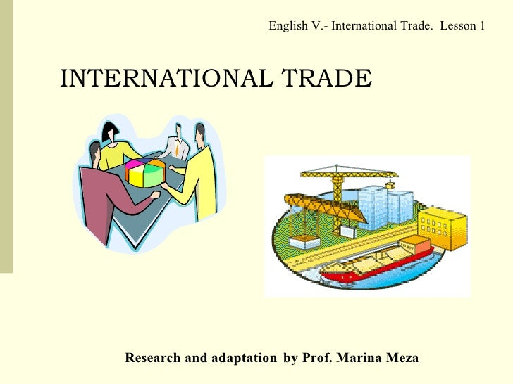 Learn international trade online