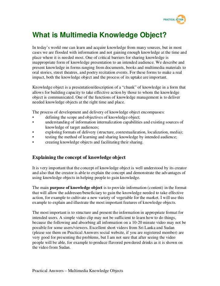 What isknowledgeobject