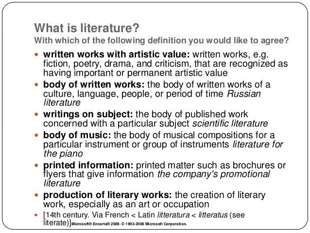 What is a literature