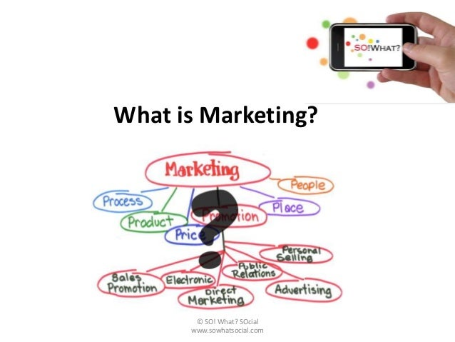 What is Marketing?       © SO! What? SOcial      www.sowhatsocial.com