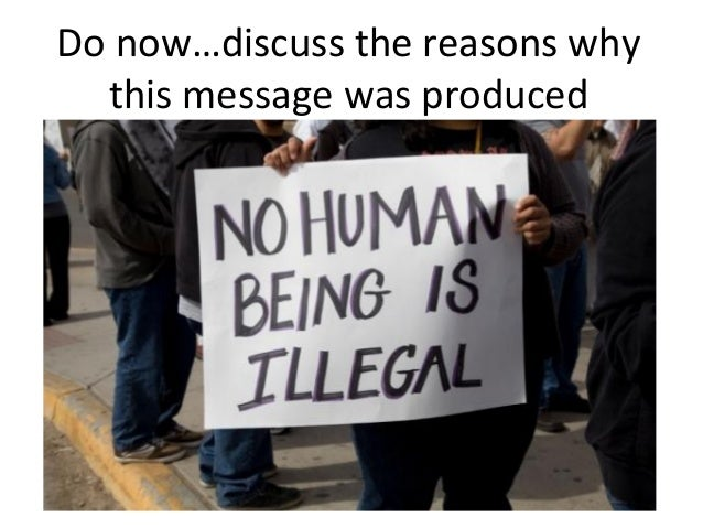 Do now…discuss the reasons why this message was produced