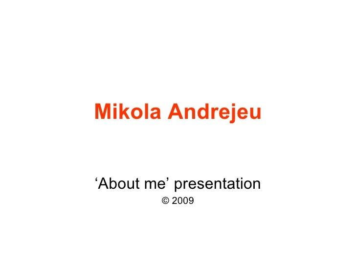 Project Management Introduction by Mikola Andrejeu