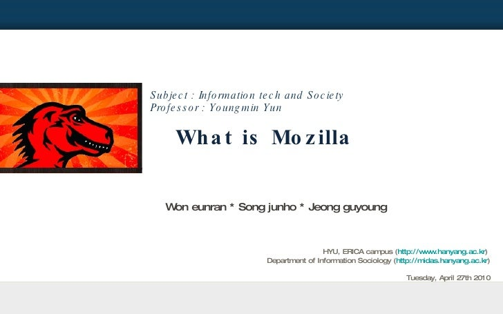 What is mozilla
