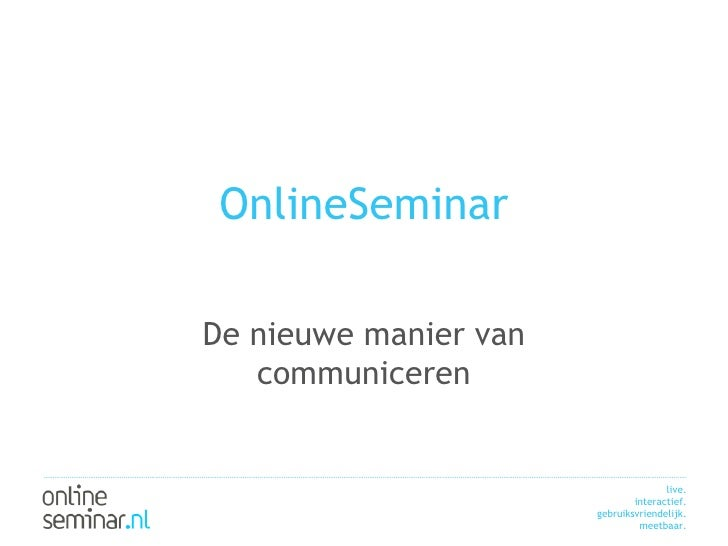 What Is Online Seminar