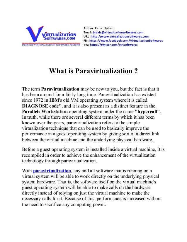 What is paravirtualization