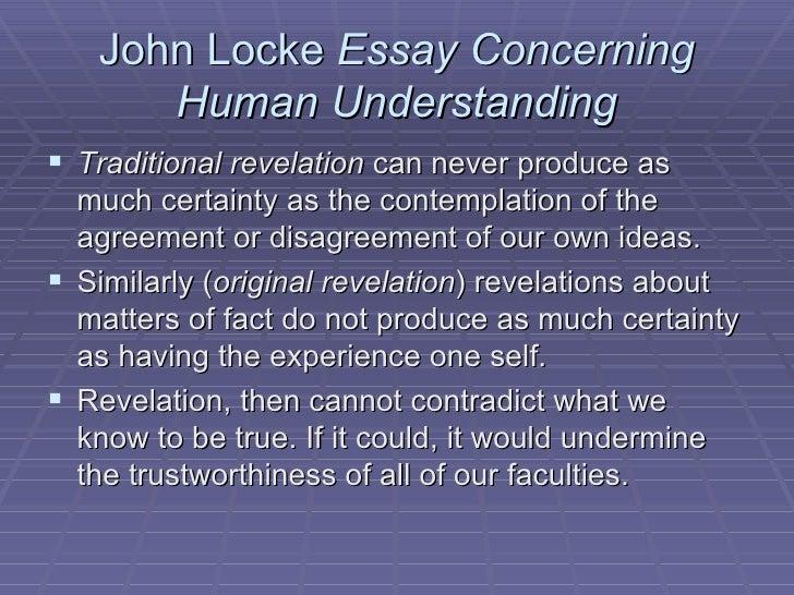 Locke john an essay concerning human understanding