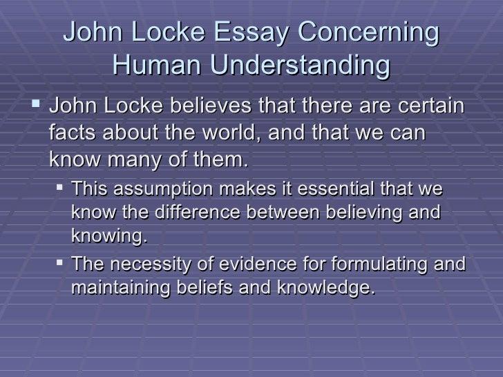 An essay concerning human understanding john locke