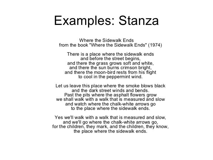 analyzing stanzas in poems