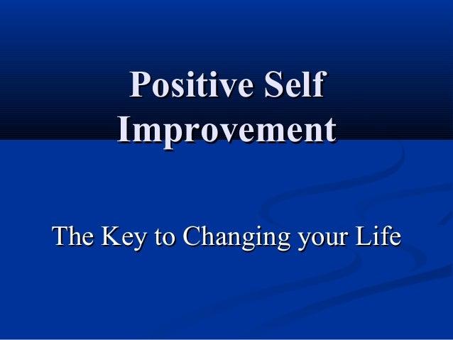 Positive Self Improvement