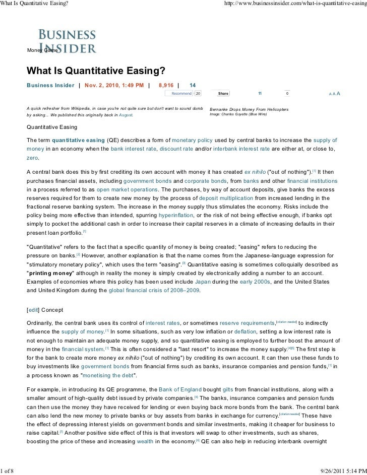 What Is Quantitative Easing?                                                                                      http://w...