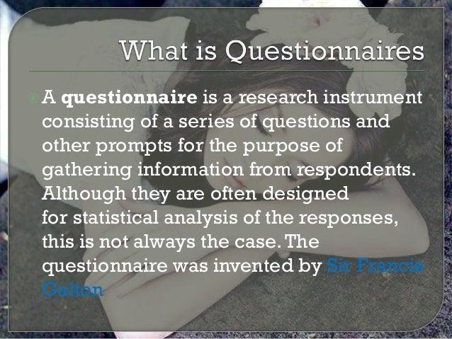 What is questionnaires   copy
