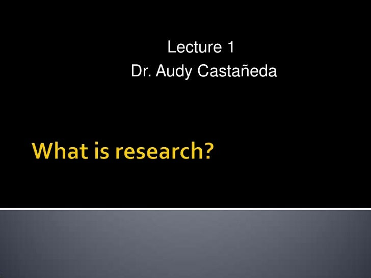 What is research presentation