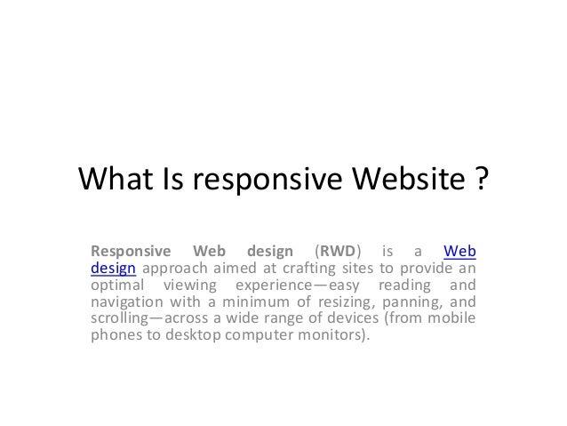 What is responsive website