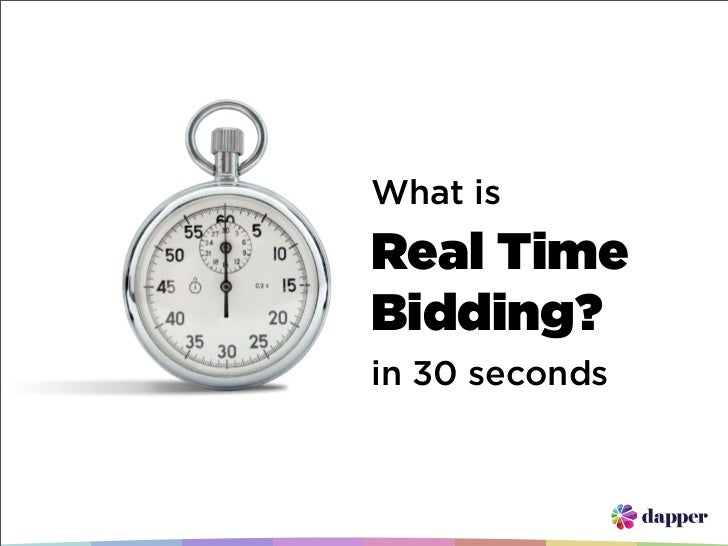 What is Real Time Bidding (in 30 seconds)