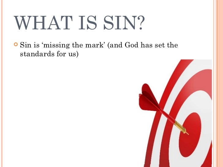 Image result for sin is missing the mark