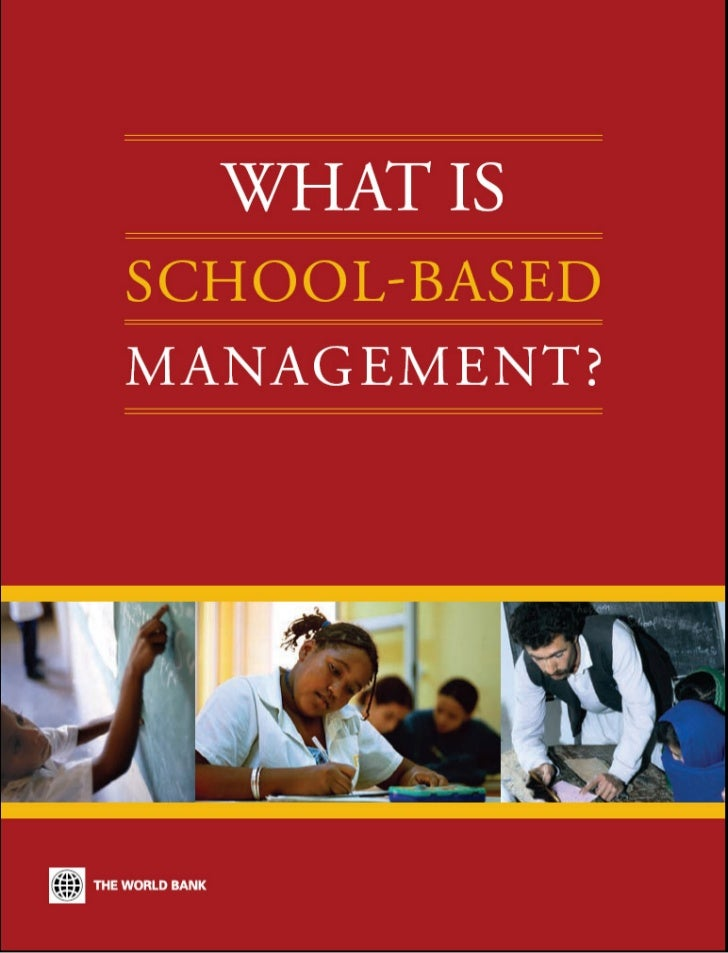 What  is school based management