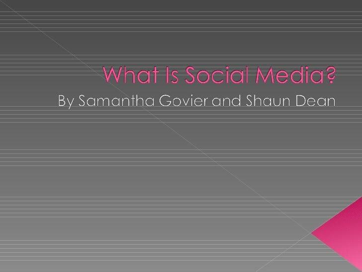 What is social media presentation