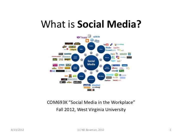 "What is Social Media?             COM693K ""Social Media in the Workplace""                Fall 2012, West Virginia Universi..."