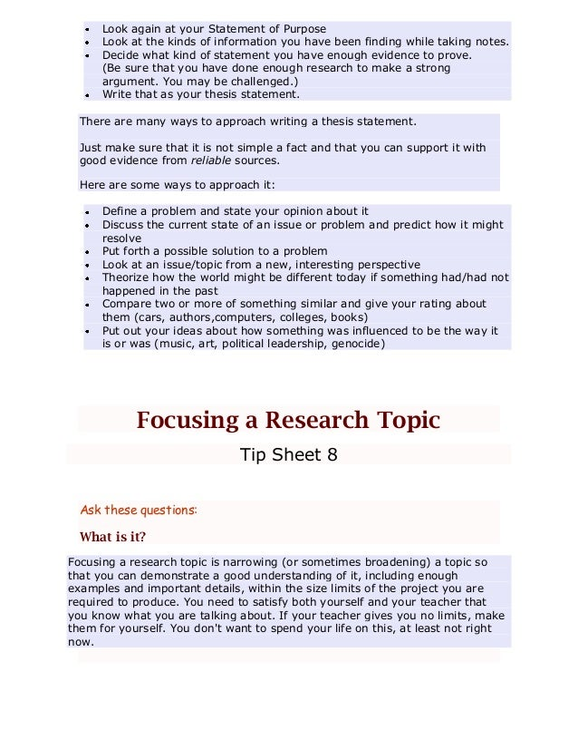 how to write a hypothetical thesis in sop
