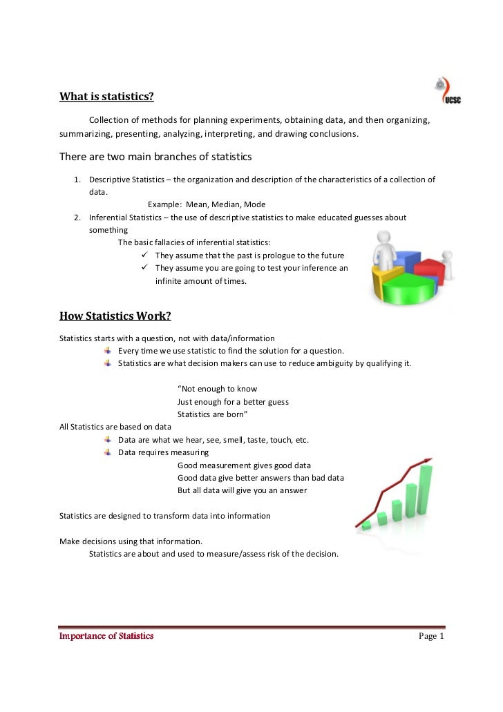 What is statistics?      Collection of methods for planning experiments, obtaining data, and then organizing, summarizing,...