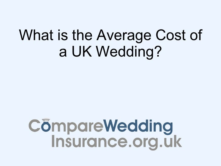 What is the Average Cost of a UK Wedding?
