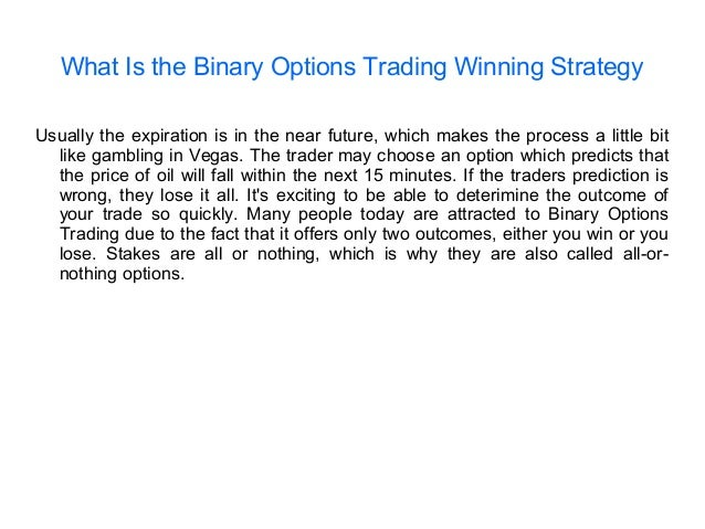Binary option winning strategy