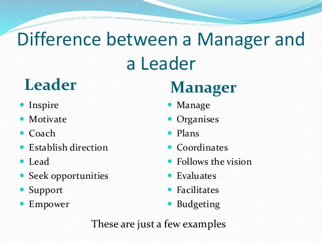 differences in management and leadership essay The difference between management and leadership leadership and management are two notions that are often used interchangeably however, these words actually describe two different concepts in this section, we shall discuss these differences and explain why both terms are thought to be similar.