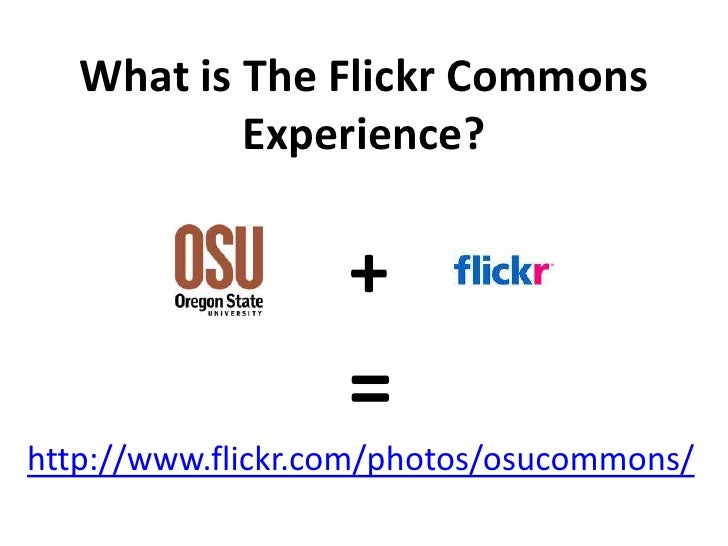 What is the Flickr Commons Experience: GWLA Presentation