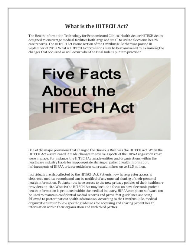 What is the hitech act