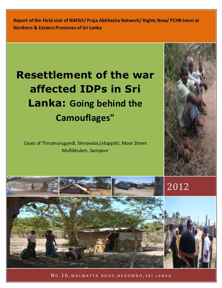 What is the meaning of resettlement in sri lanka edited