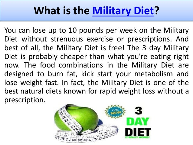 Military diet without exercise