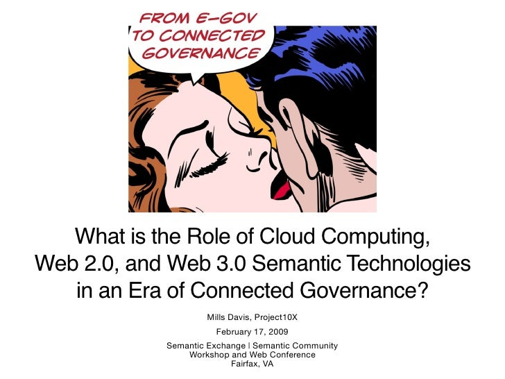 What Is The Role Of Cloud Computing, Web 2 0, And Web 3 0 Semantic Technologies In an Era of Connected Governance
