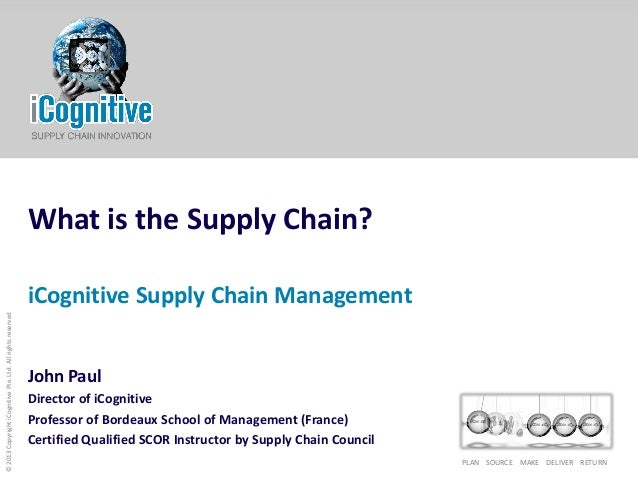 icognitive: What is the supply chain?