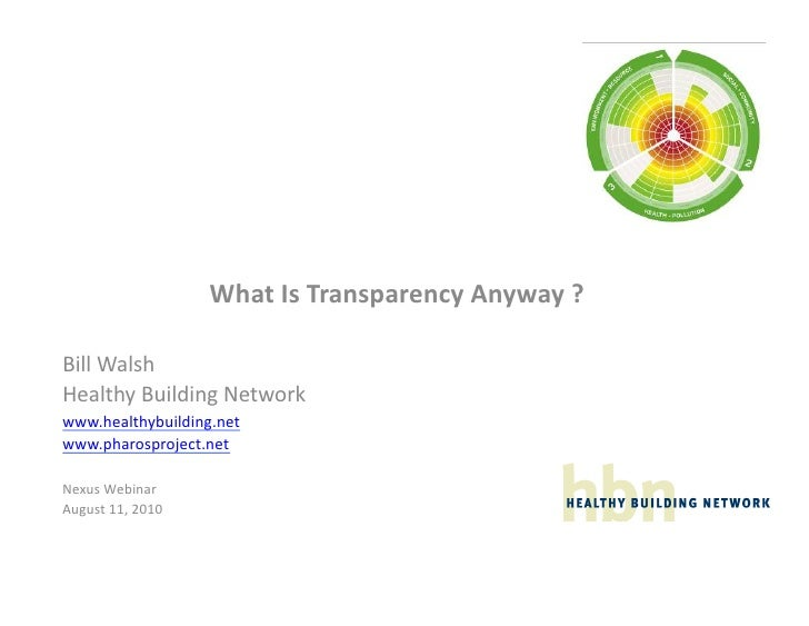 What  Is  Transparency  Anyway  ?    Bill  Walsh   H...