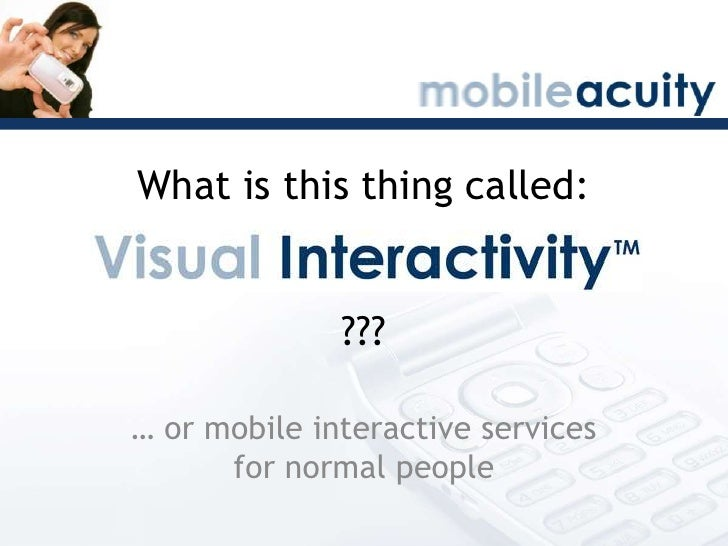BarCampScotland: What Is Visual Interactivity?