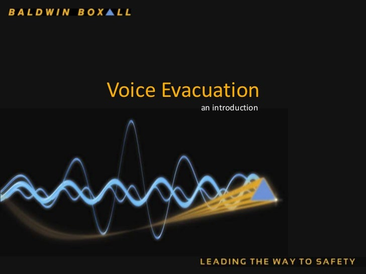 Voice Evacuation         an introduction