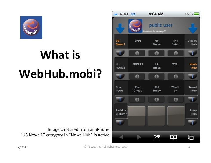 What is webhub.mobi?